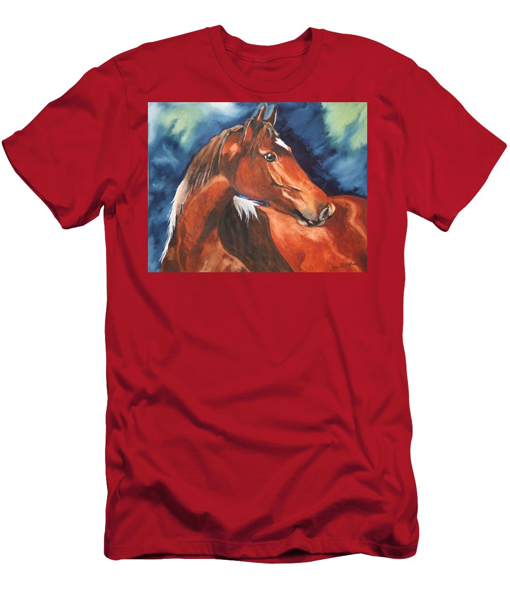Horse Men's T-Shirt (Athletic Fit) featuring the painting Golden Boy by Jean Blackmer