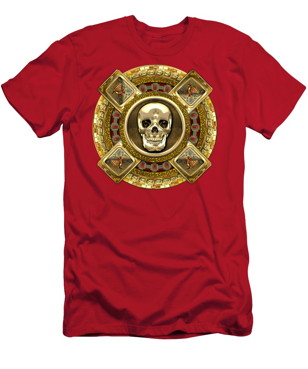 Golden Mictlantecuhtli Aztec God Of Death T Shirt For Sale By