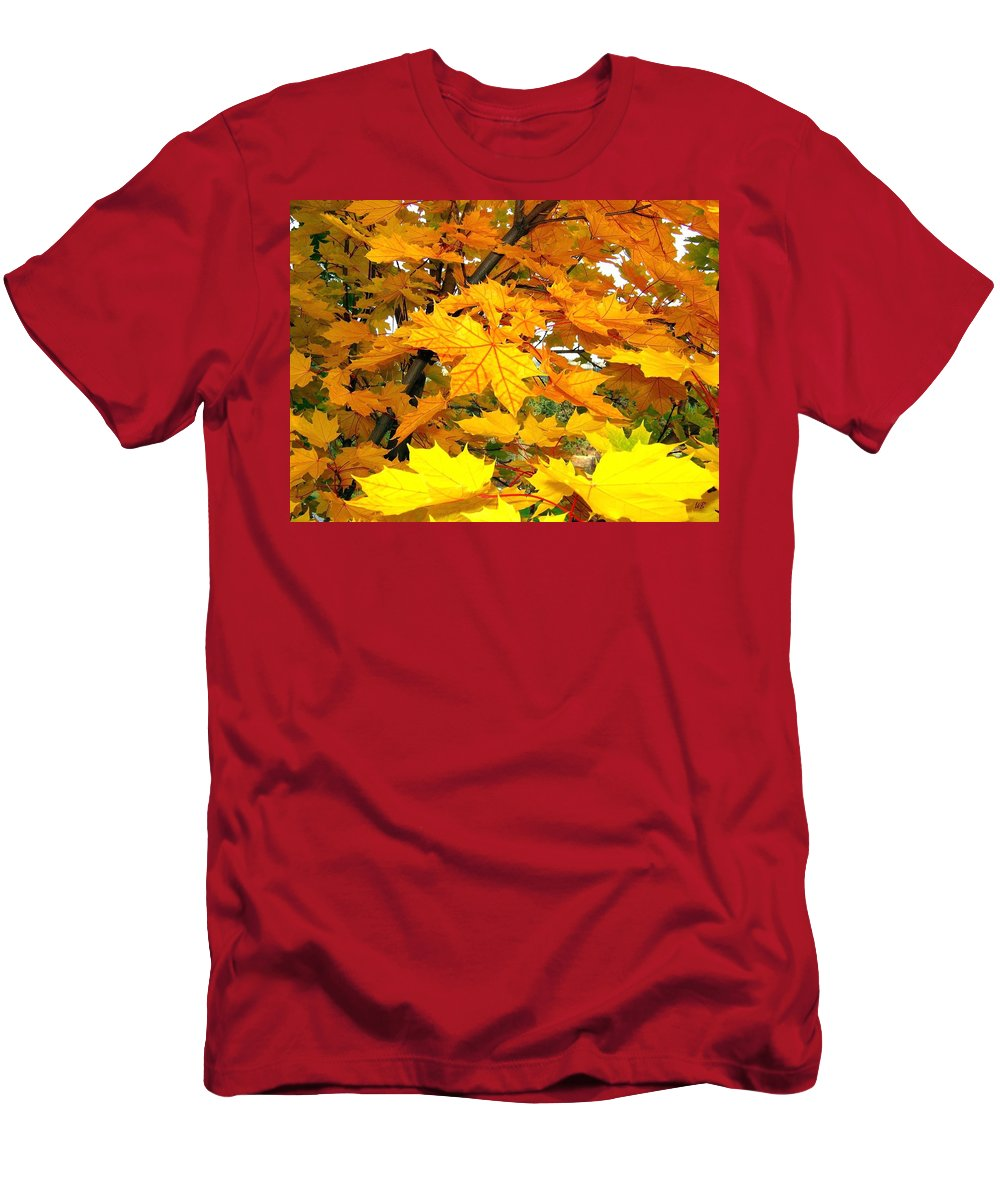 Autumn Men's T-Shirt (Athletic Fit) featuring the photograph Golden Moments by Will Borden