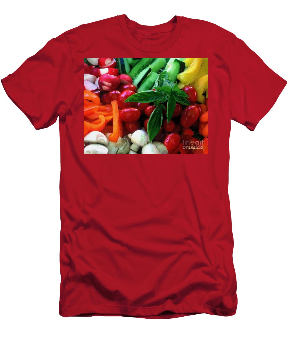 Food Men's T-Shirt (Athletic Fit) featuring the painting Good Stuff by RC DeWinter