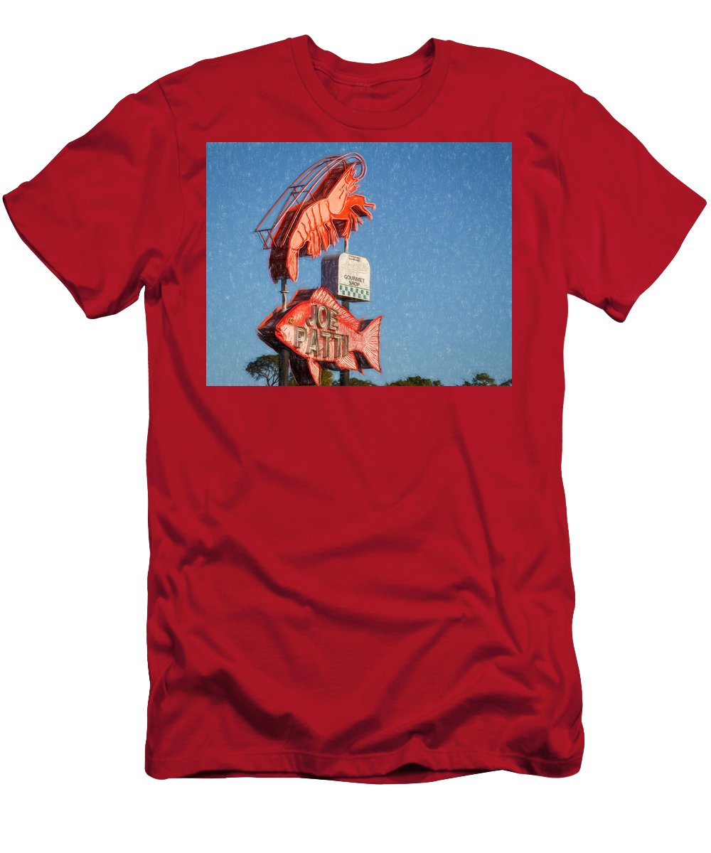 Pensacola Men's T-Shirt (Athletic Fit) featuring the photograph Got Shrimp 2 by Gary Oliver