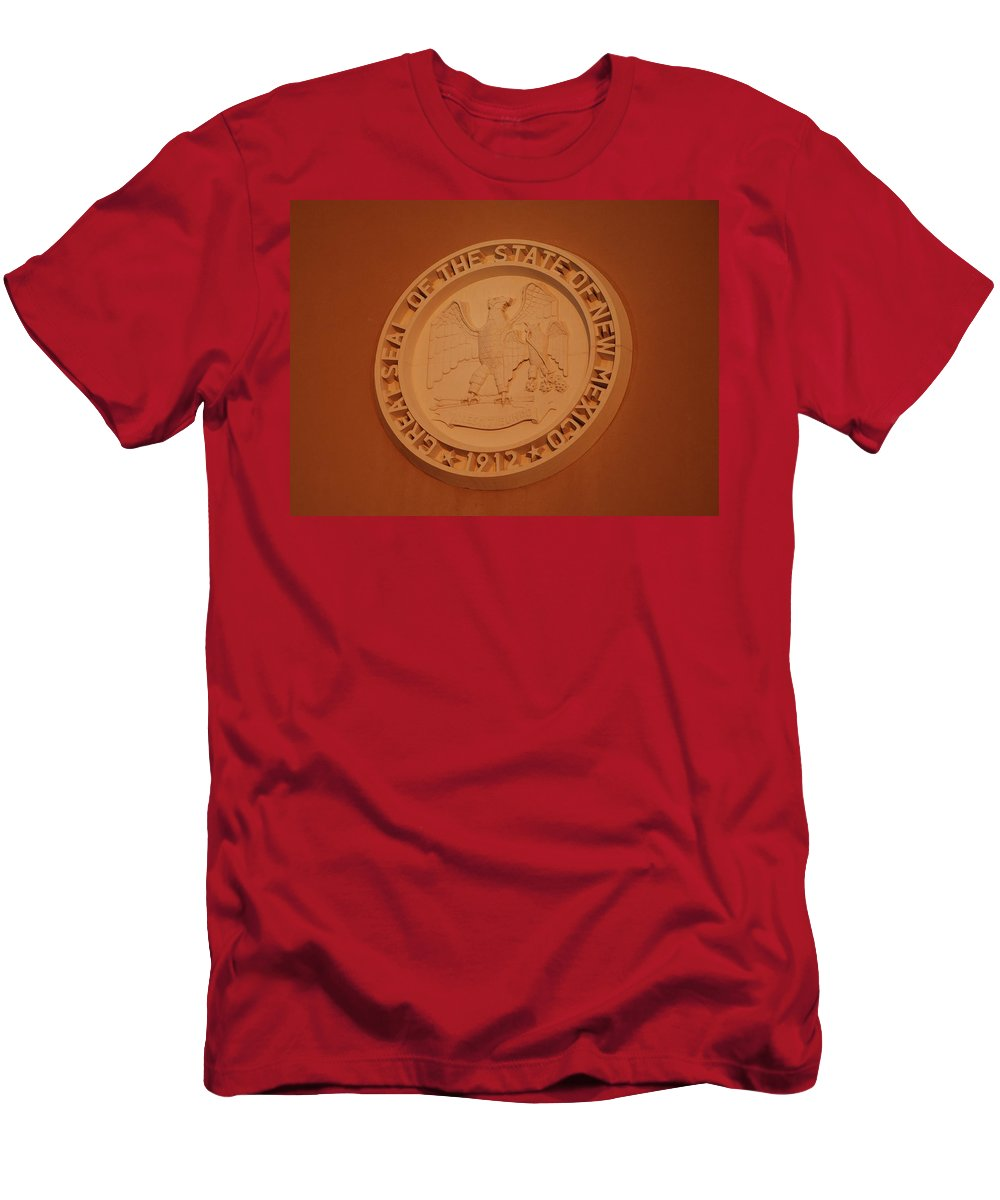 Eagle Men's T-Shirt (Athletic Fit) featuring the photograph Great Seal Of The State Of New Mexico 1912 by Rob Hans