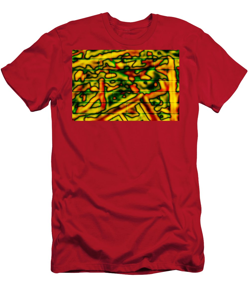 Digital Men's T-Shirt (Athletic Fit) featuring the photograph Grunge Graffiti by Phill Petrovic