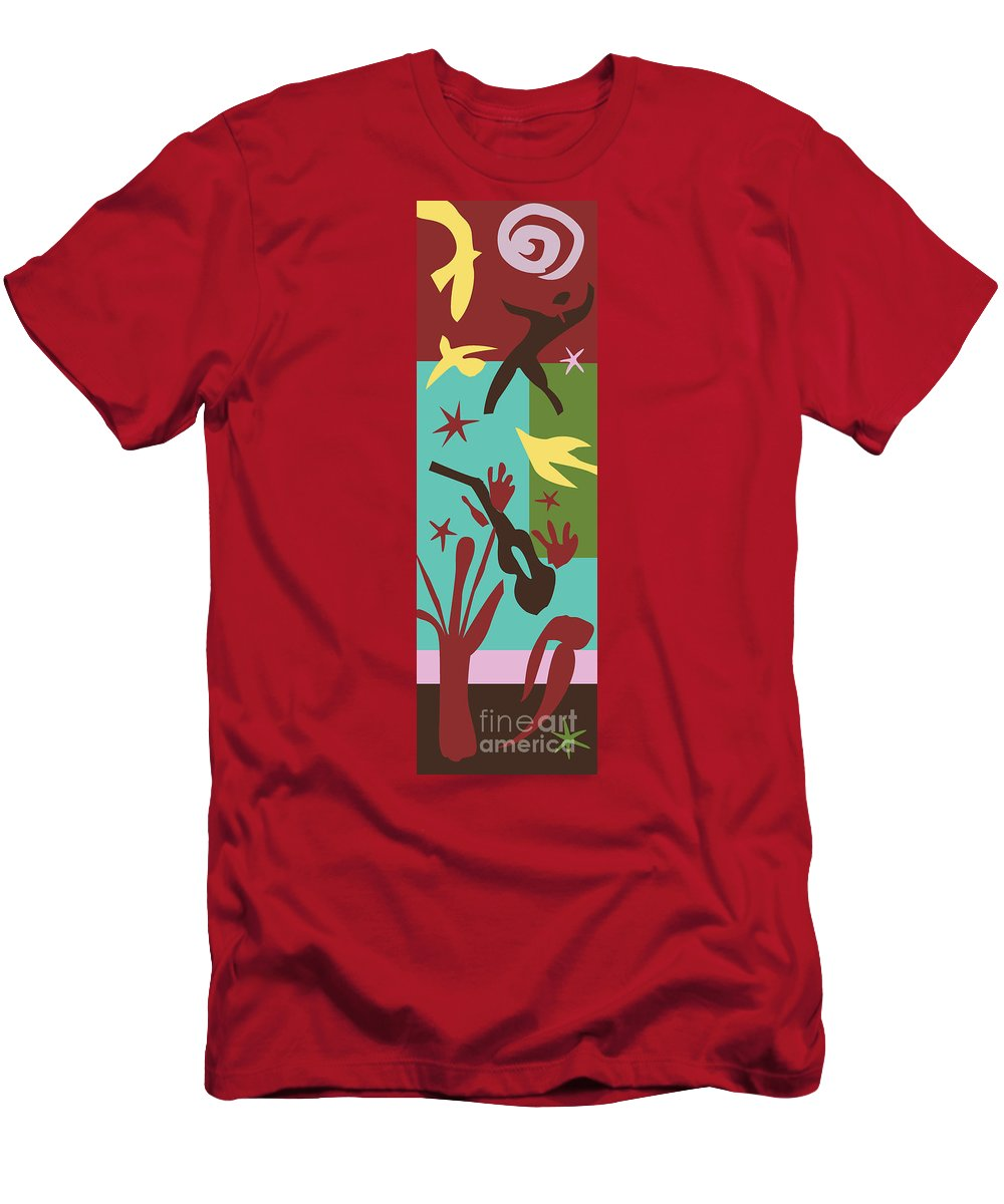 Henri Matisse Men's T-Shirt (Athletic Fit) featuring the painting Happiness - Celebrate Life 4 by Xueling Zou