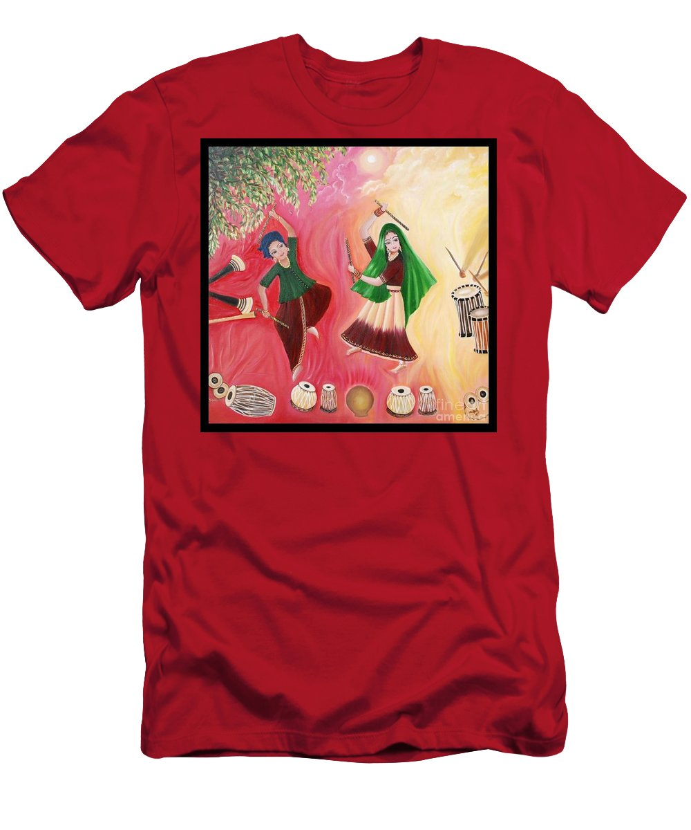 Figurative Men's T-Shirt (Athletic Fit) featuring the painting Happiness by Usha Rai