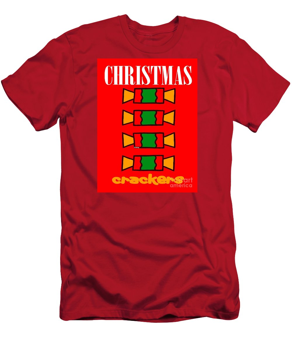 Christmas Men's T-Shirt (Athletic Fit) featuring the painting Happy Christmas 14 by Patrick J Murphy
