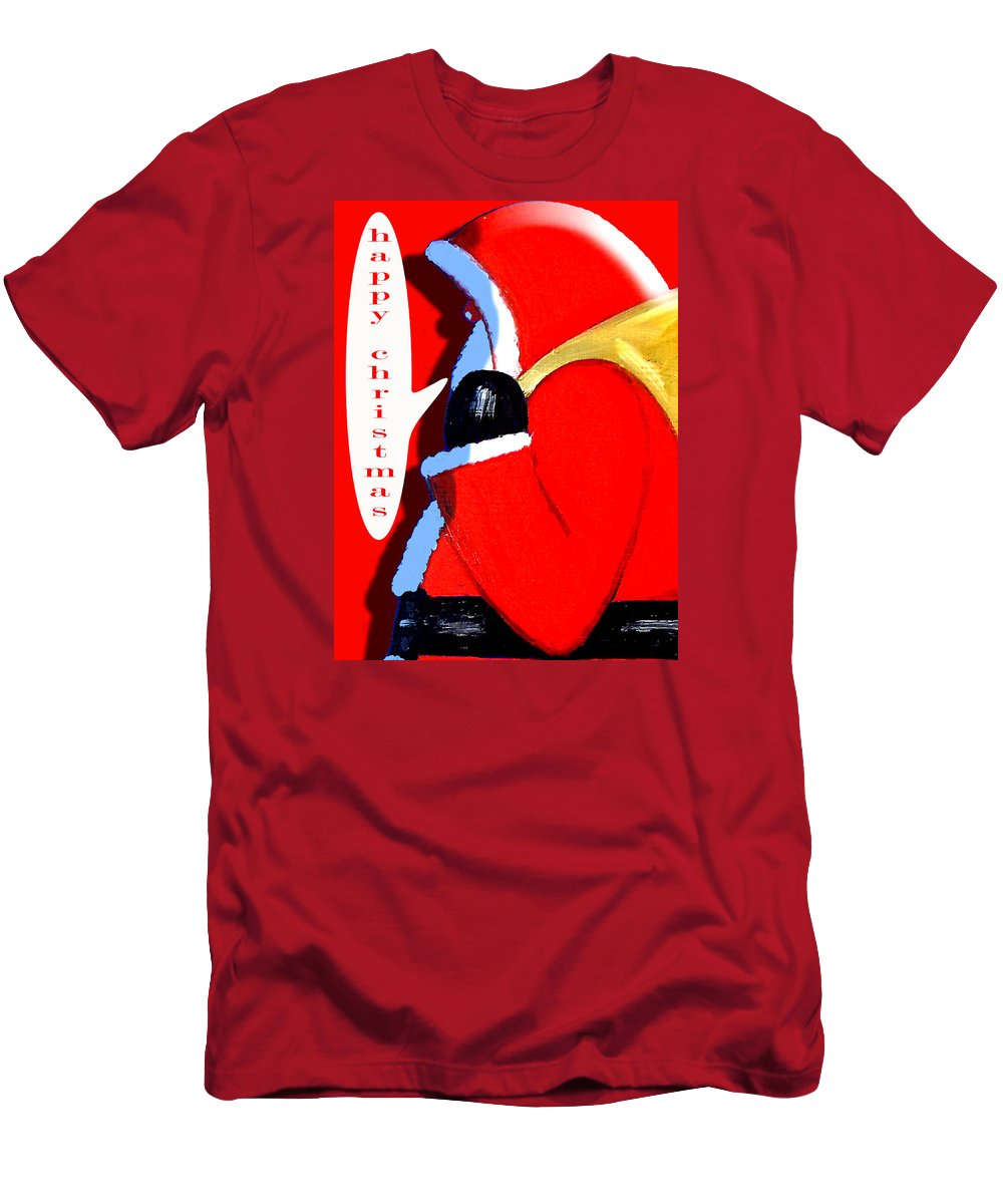 Christmas Men's T-Shirt (Athletic Fit) featuring the painting Happy Christmas 15 by Patrick J Murphy