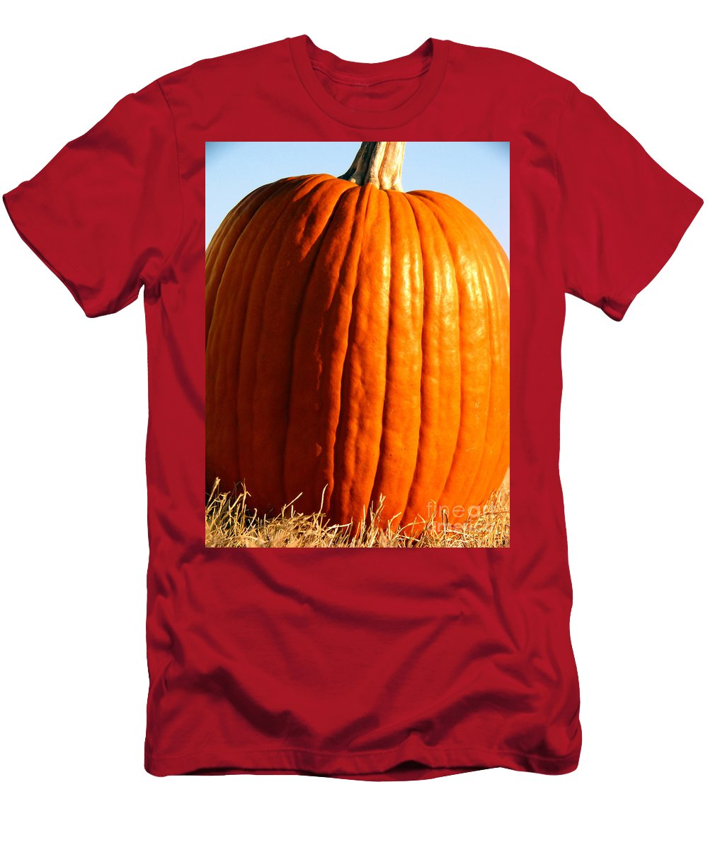 Pumpkin Men's T-Shirt (Athletic Fit) featuring the photograph Harvest by Amanda Barcon