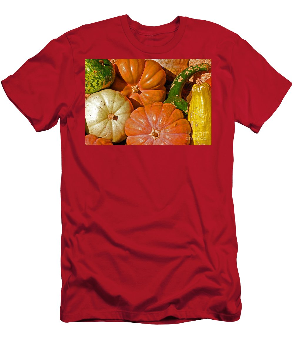 Squash Men's T-Shirt (Athletic Fit) featuring the photograph Harvest Time by Debbi Granruth