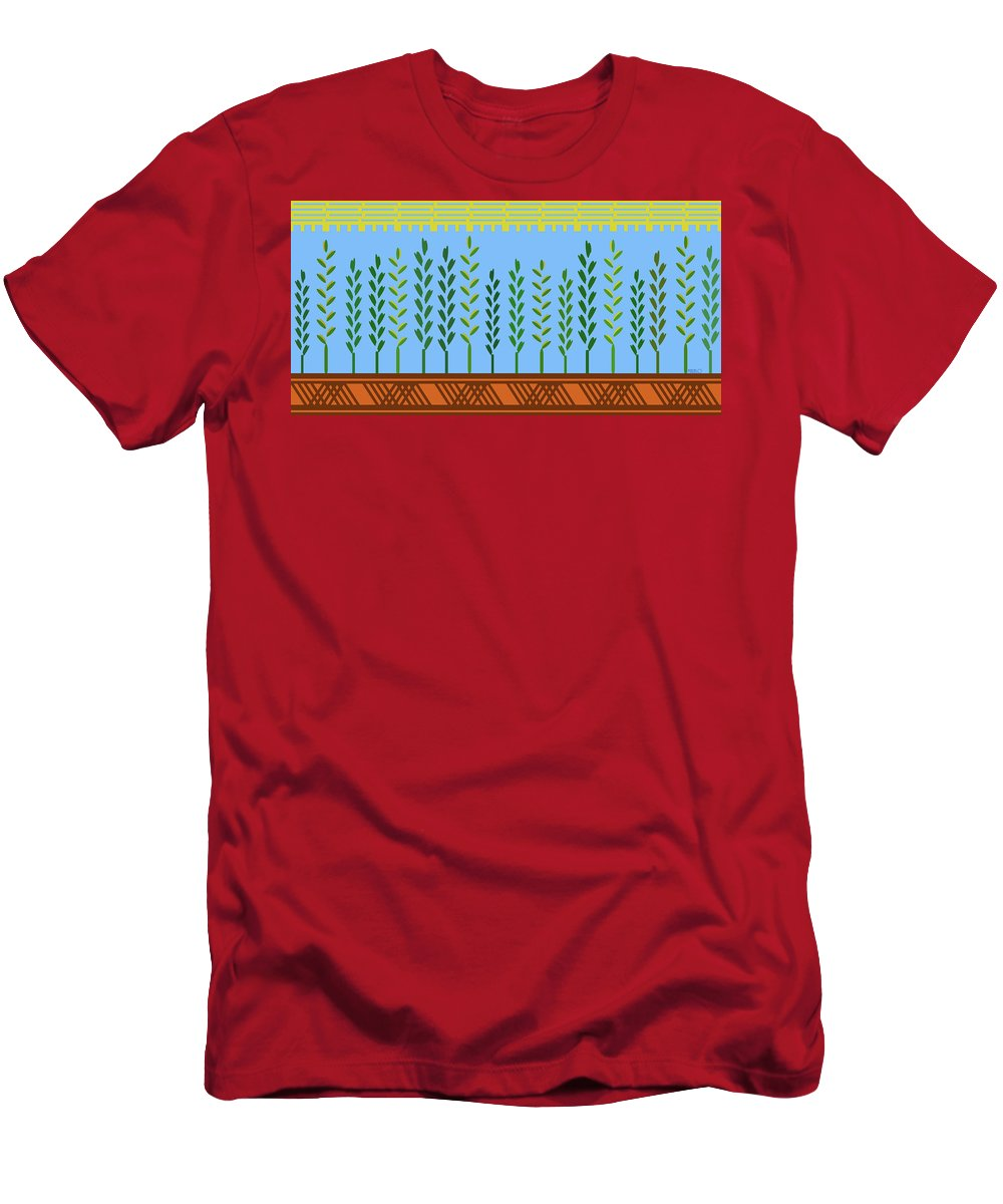 Harvest Men's T-Shirt (Athletic Fit) featuring the digital art Harvest by Tommy Marblo