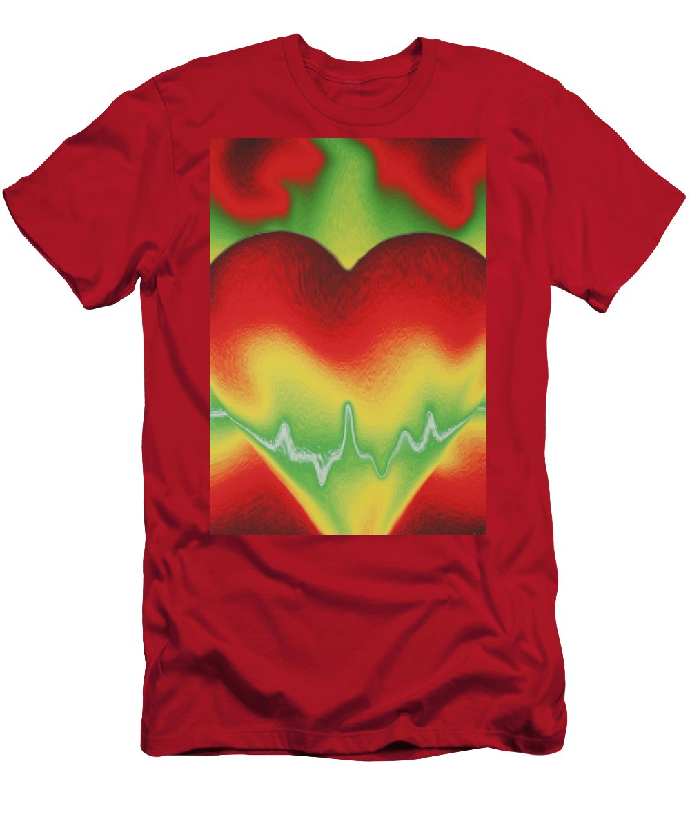 Heart Men's T-Shirt (Athletic Fit) featuring the photograph Heart Beat by Rob Hans