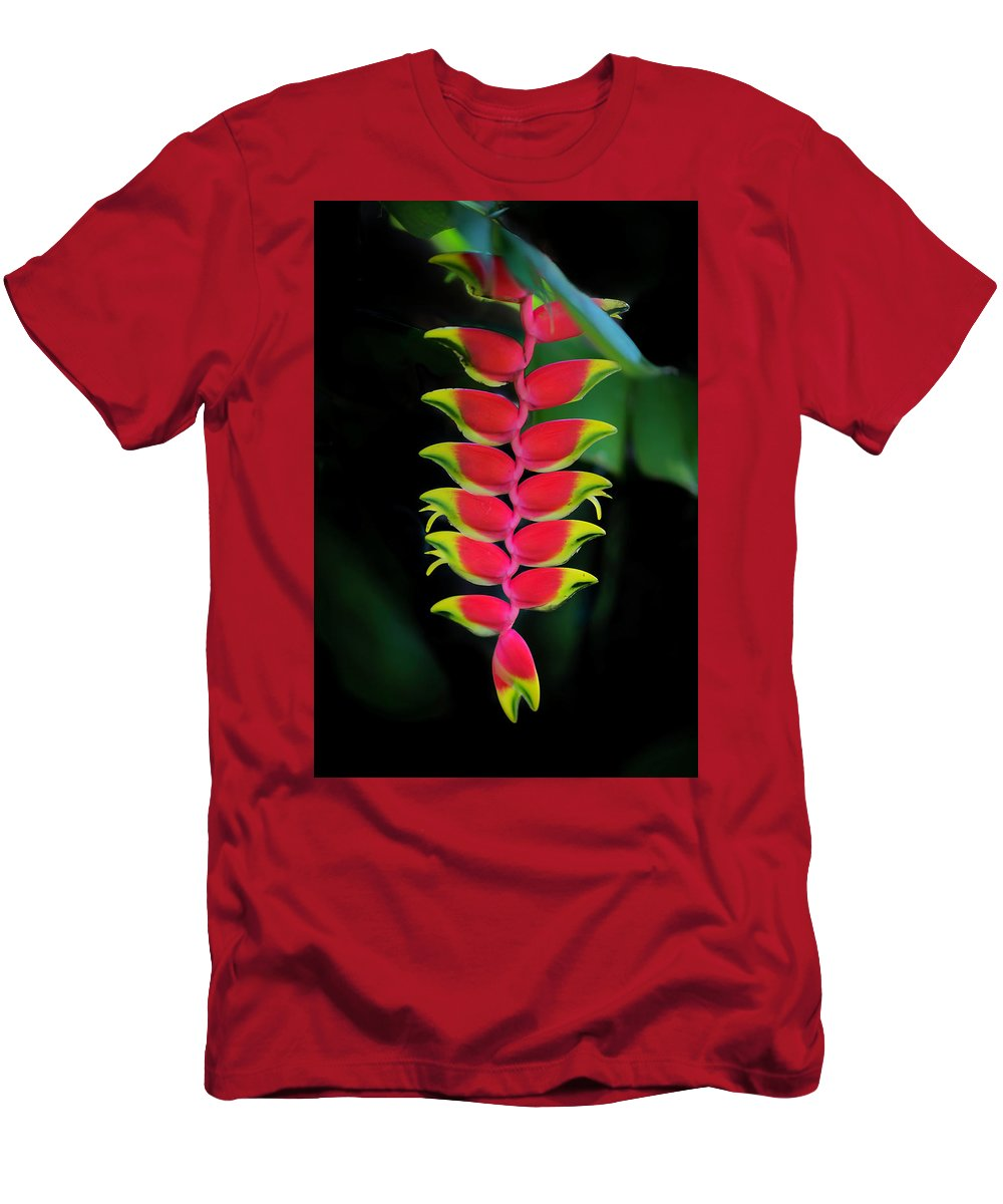Heliconia Lobster Claw Men's T-Shirt (Athletic Fit) featuring the photograph Heliconia Lobster Claw by Scott Mullin