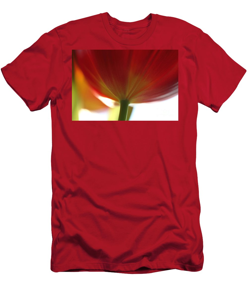 Tulip Men's T-Shirt (Athletic Fit) featuring the photograph Help Is Here by Amanda Barcon