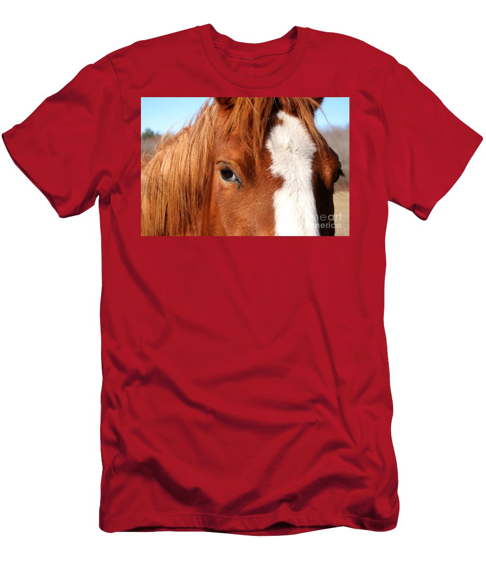 Horse Men's T-Shirt (Athletic Fit) featuring the photograph Horse's Mane by Thomas Marchessault