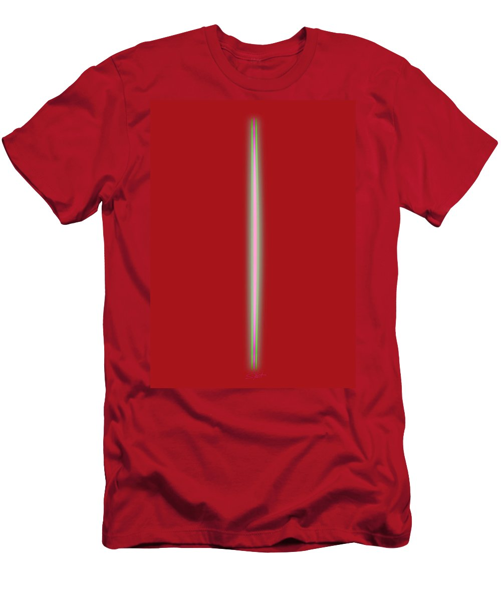 Slit Men's T-Shirt (Athletic Fit) featuring the painting Hot For You by Charles Stuart