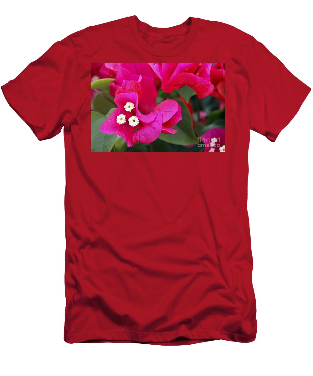 Flower Men's T-Shirt (Athletic Fit) featuring the photograph Hot Pink Bougainvillea by Teresa Zieba