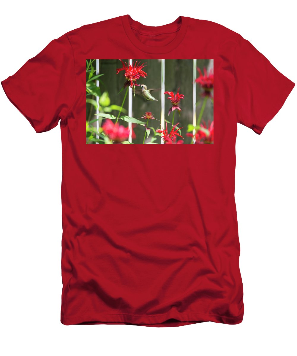 Bird Men's T-Shirt (Athletic Fit) featuring the photograph Humming Bird 7 by David Stasiak