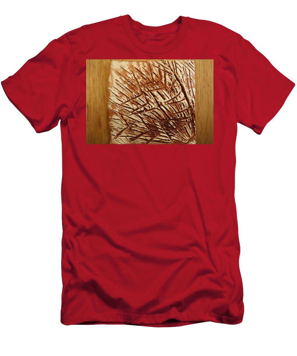 Jesus Men's T-Shirt (Athletic Fit) featuring the ceramic art In The Dark - Tile by Gloria Ssali