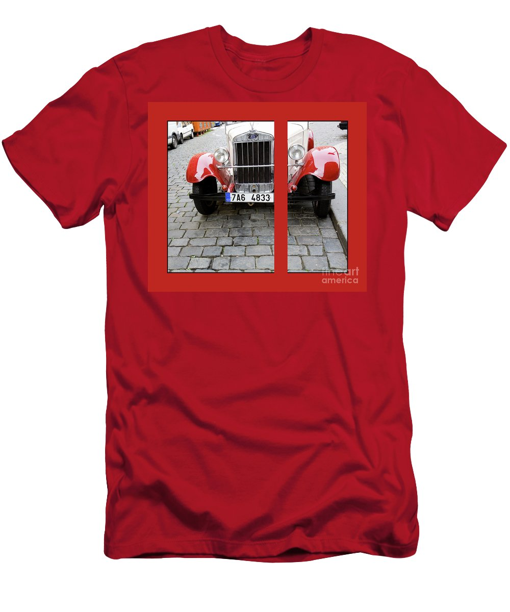 Auto Men's T-Shirt (Athletic Fit) featuring the photograph In The Good Old Days by Madeline Ellis