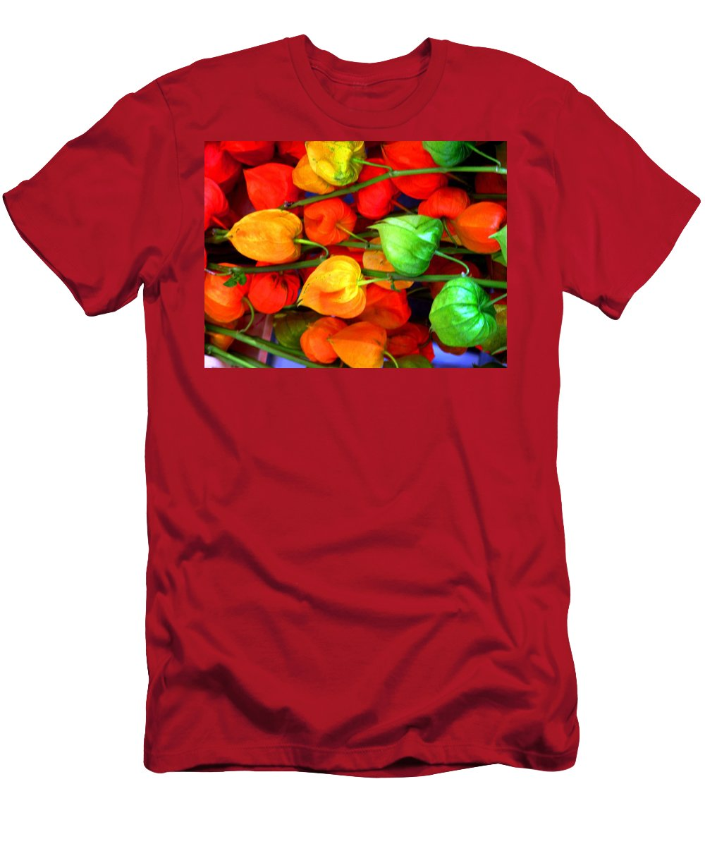 Market Men's T-Shirt (Athletic Fit) featuring the photograph In The Market by Ian MacDonald