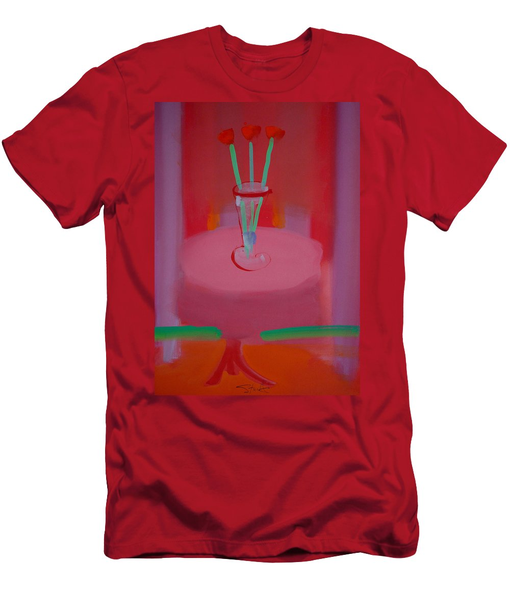Vase Men's T-Shirt (Athletic Fit) featuring the painting In The Red Room by Charles Stuart