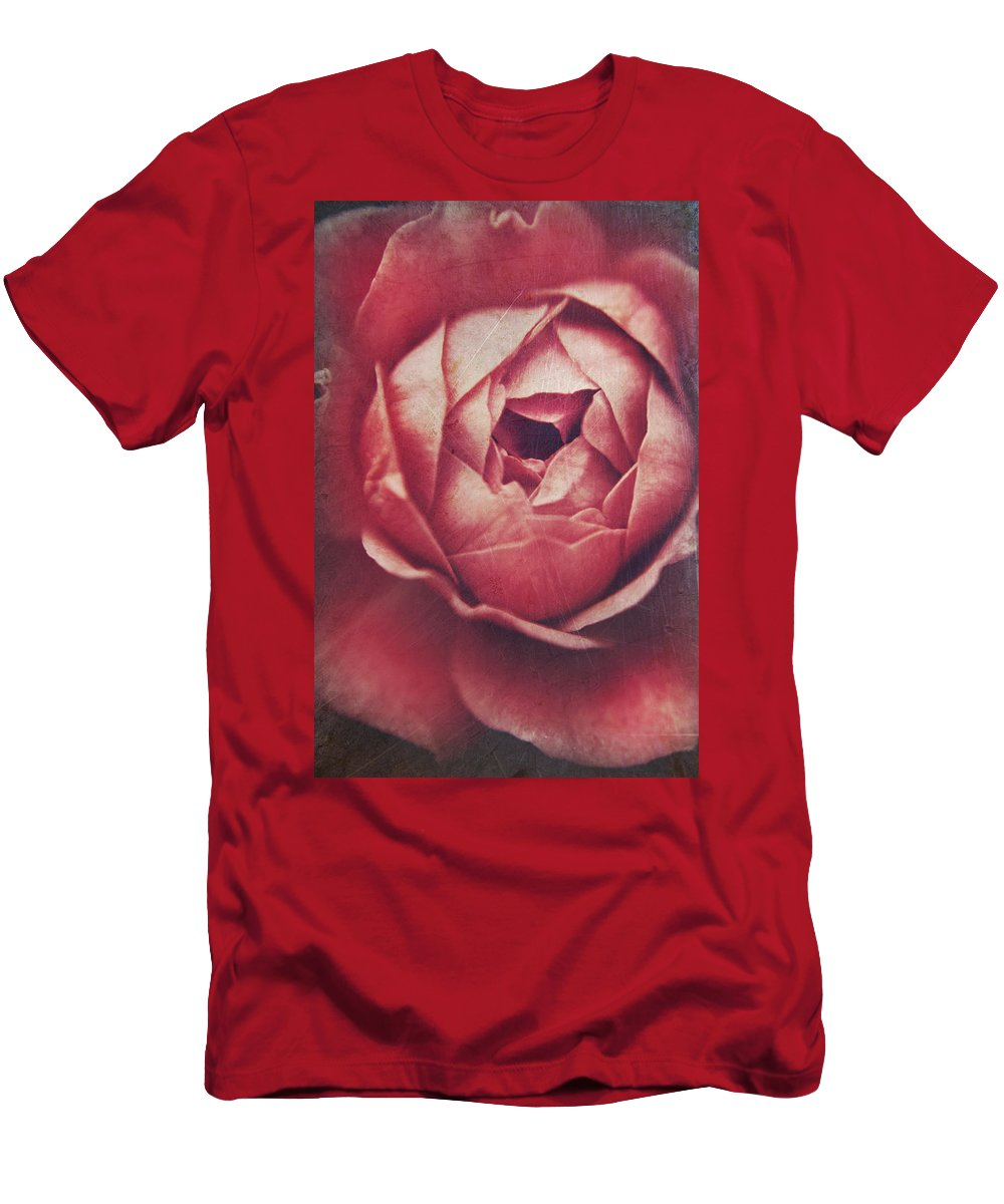Flower Men's T-Shirt (Athletic Fit) featuring the photograph In Tough Times by Laurie Search