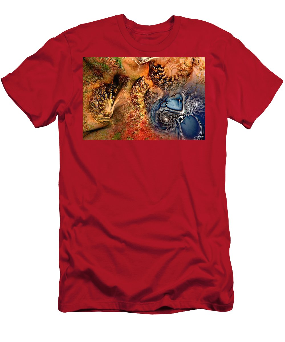 Abstract T-Shirt featuring the digital art Incident At Neshabur by Casey Kotas