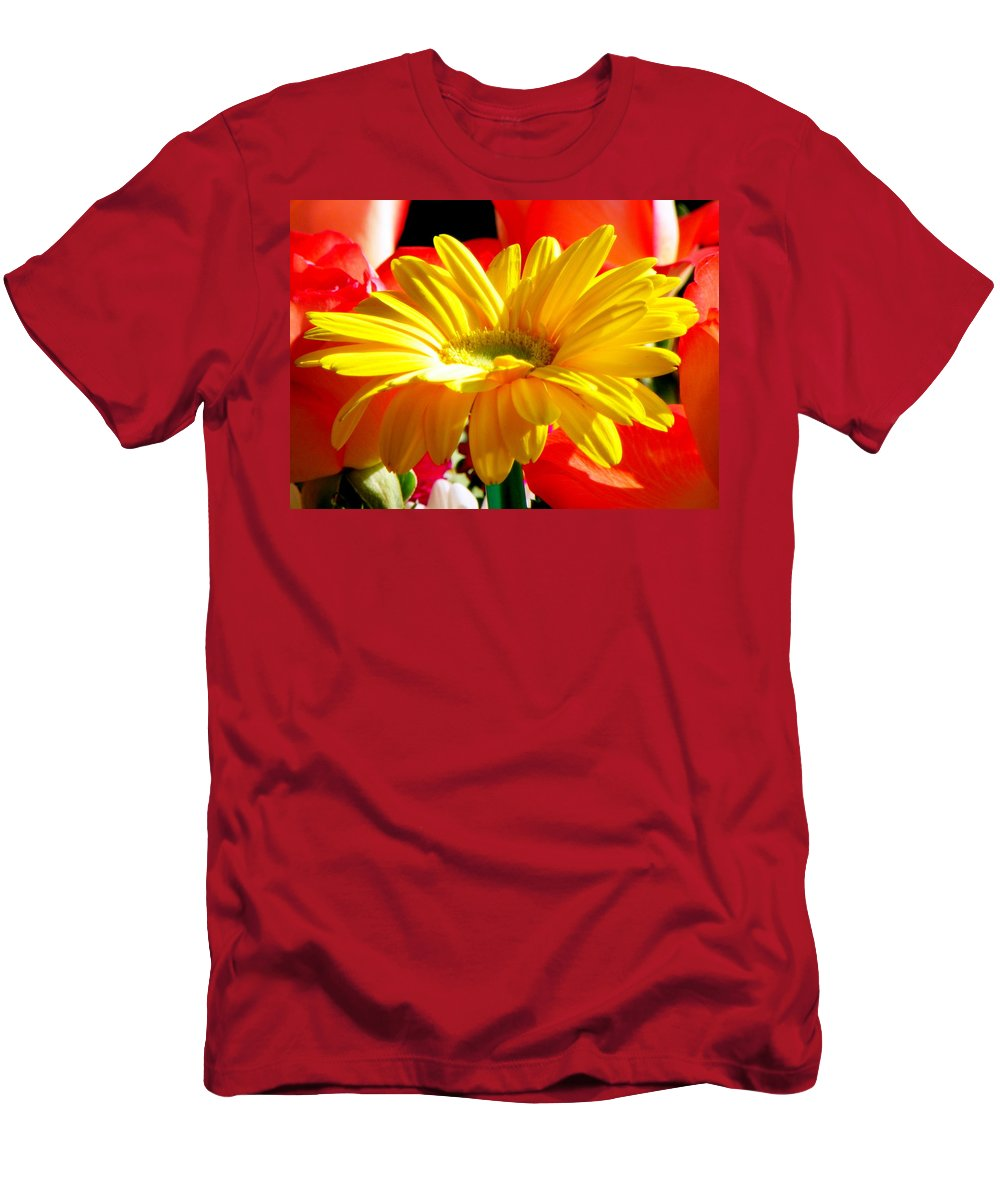 Floral Men's T-Shirt (Athletic Fit) featuring the photograph Inner Glow by Karen Wiles