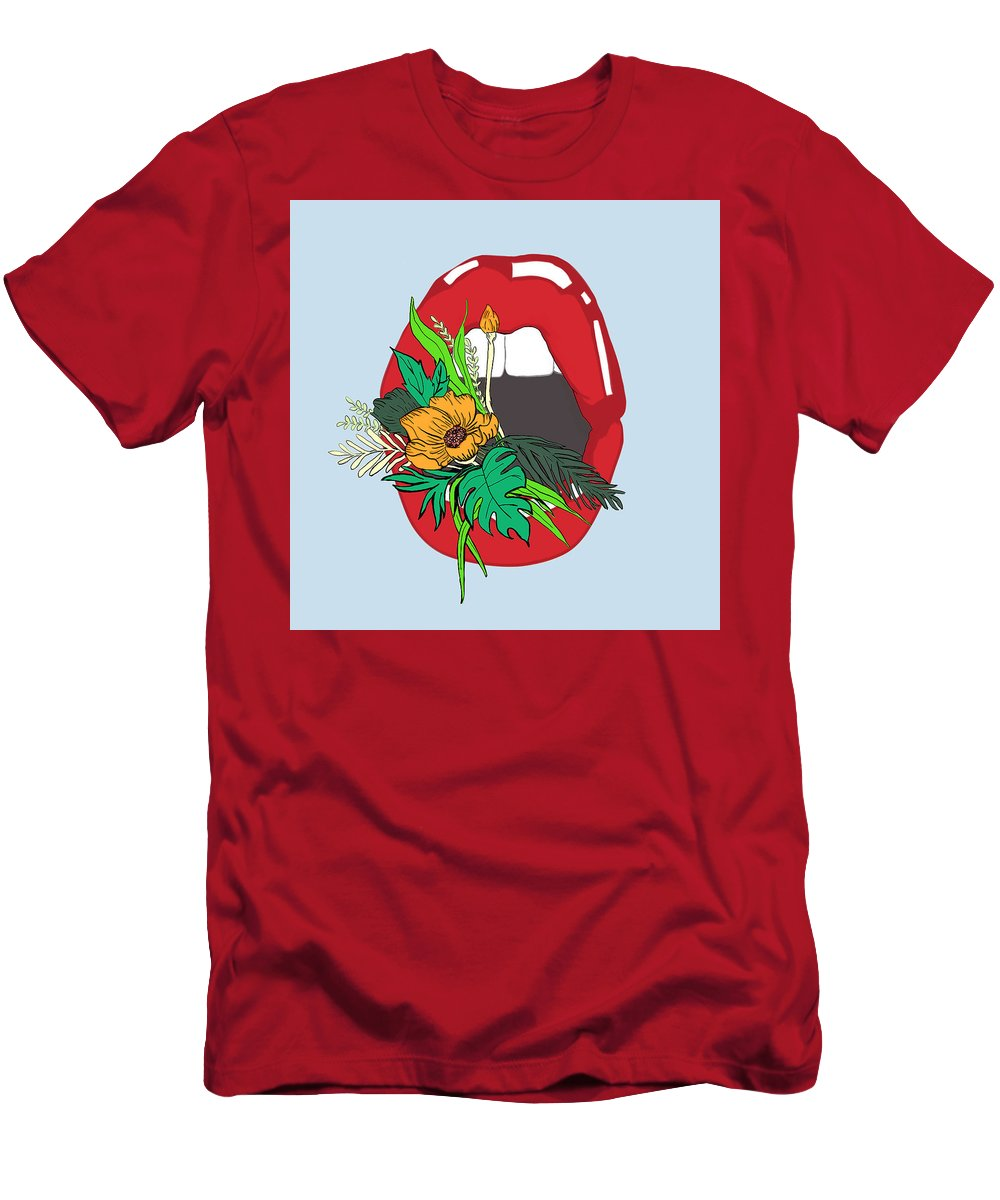 Floral Men's T-Shirt (Athletic Fit) featuring the digital art Inner Oasis by Brittany Everette