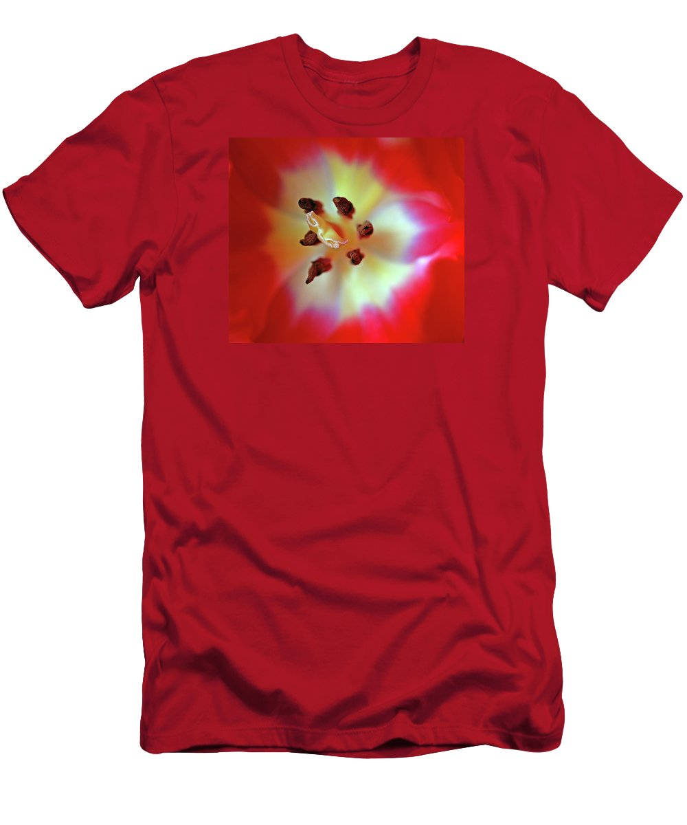 Tulip Men's T-Shirt (Athletic Fit) featuring the photograph Inner Spirit by Bill Morgenstern