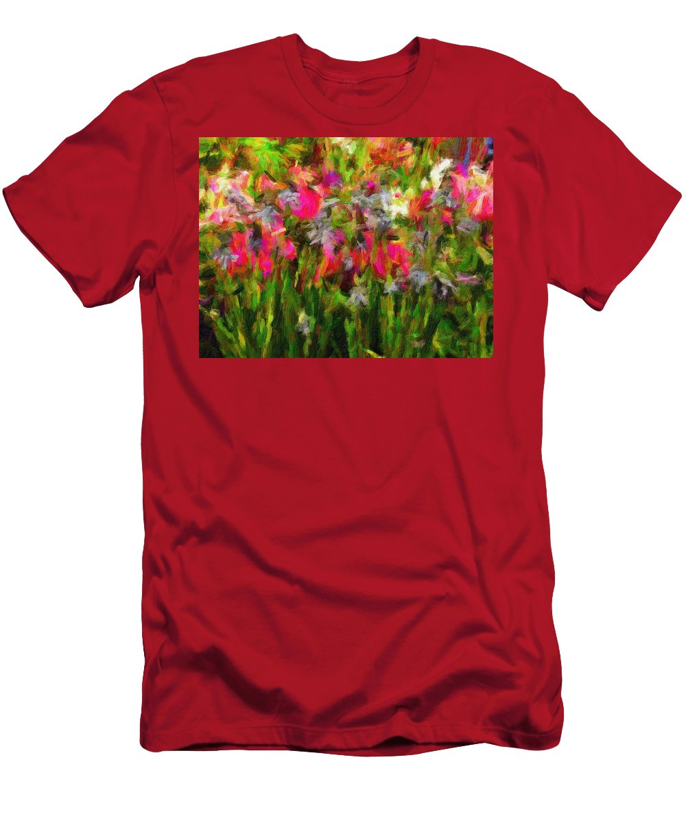 Irises Men's T-Shirt (Athletic Fit) featuring the digital art Irises by Sarah West