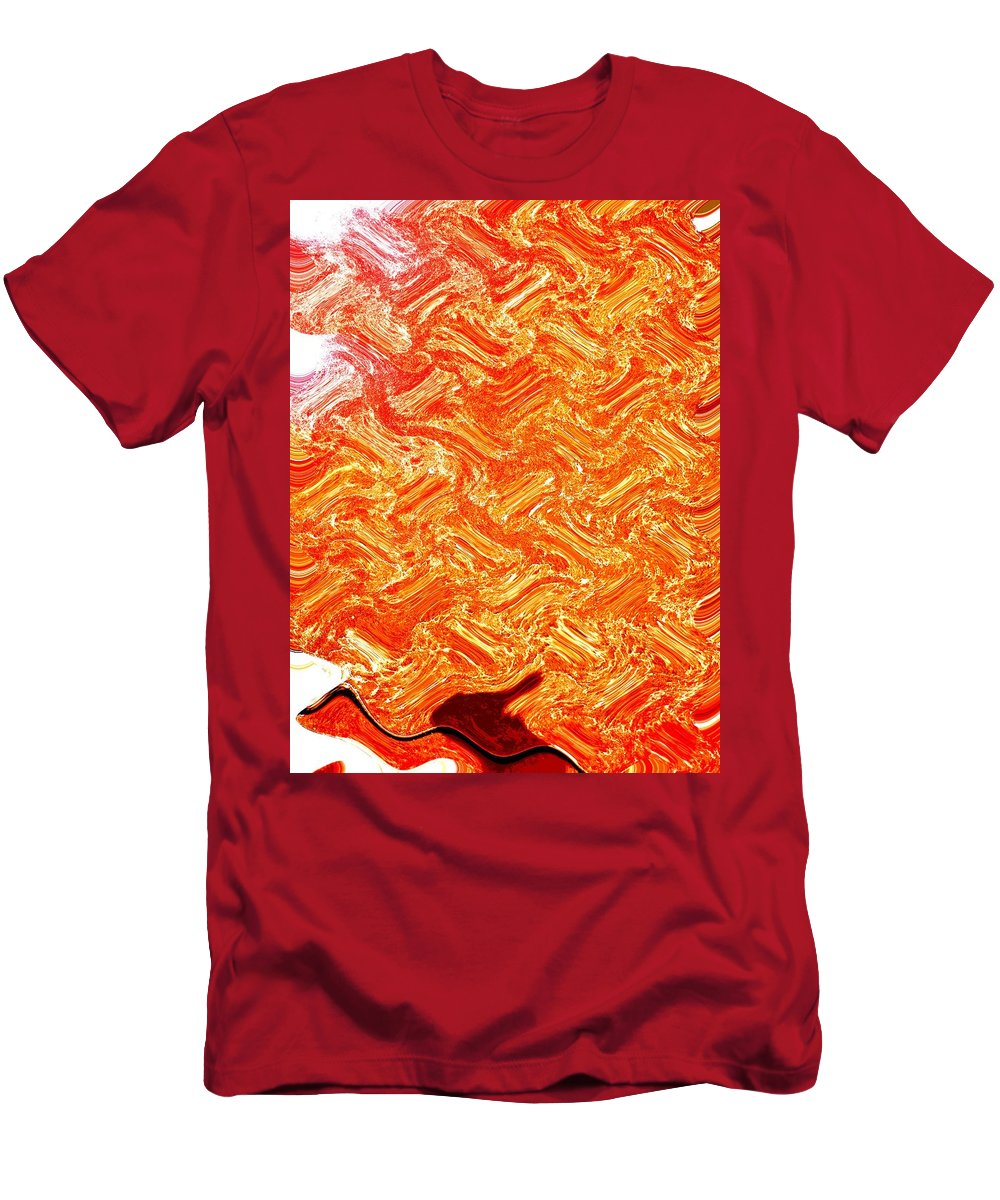 Abstract Men's T-Shirt (Athletic Fit) featuring the digital art It Walks Like A Duck by Lenore Senior