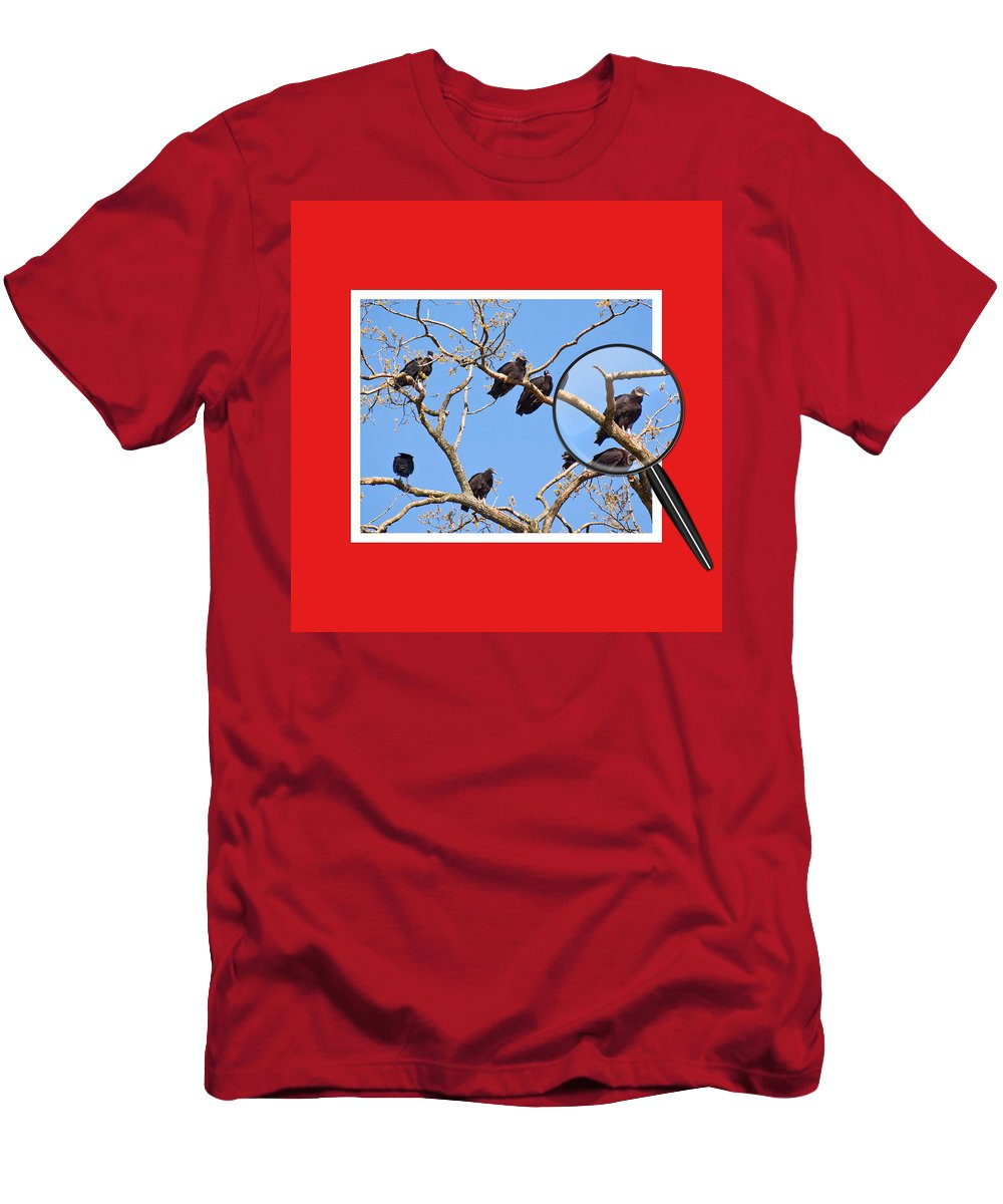 Buzzards Men's T-Shirt (Athletic Fit) featuring the photograph I've Got My Eye On You by Gary Adkins
