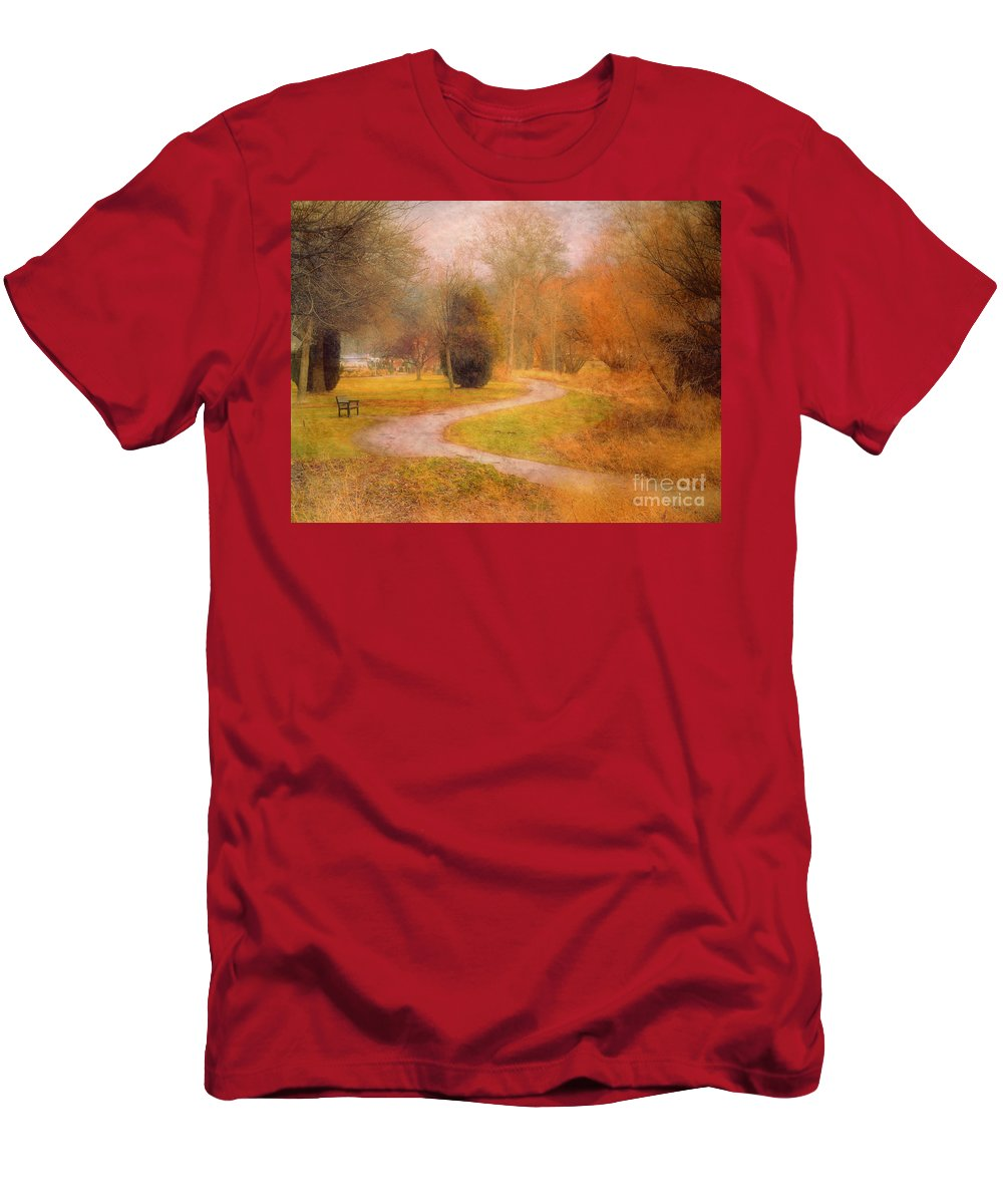 Road Men's T-Shirt (Athletic Fit) featuring the photograph January 14 2010 by Tara Turner