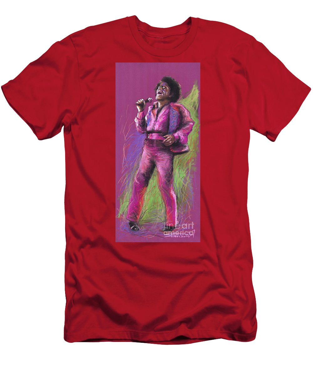 Jazz Men's T-Shirt (Athletic Fit) featuring the painting Jazz James Brown by Yuriy Shevchuk