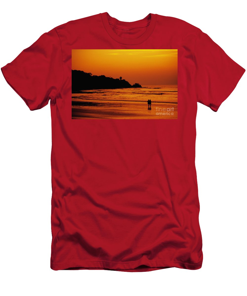 Bay Men's T-Shirt (Athletic Fit) featuring the photograph Jimbaran Bay by Dana Edmunds - Printscapes