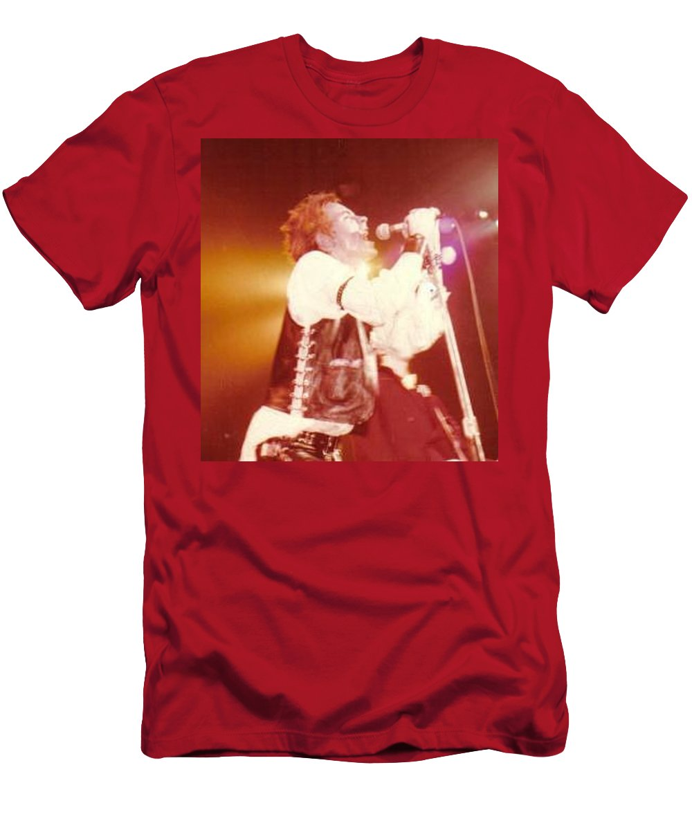 John Rotten-1978 Copyrighted Dawn Wirth T-Shirt featuring the photograph John Rotten-1978 In San Francisco  by Dawn Wirth