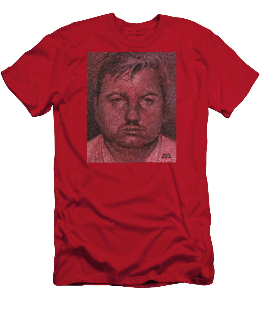 John Wayne Gacy Men's T-Shirt (Athletic Fit) featuring the painting John Wayne Gacy by Michael Parsons