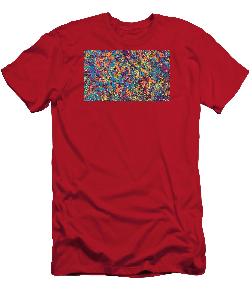 Guitar Men's T-Shirt (Athletic Fit) featuring the painting Joy by Bill Solley