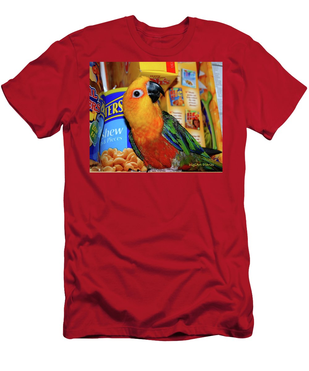 Crayola Men's T-Shirt (Athletic Fit) featuring the digital art Junk Food Junkie Caught by DigiArt Diaries by Vicky B Fuller