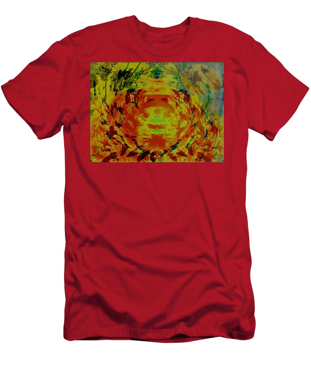 Flowers Men's T-Shirt (Athletic Fit) featuring the digital art Just Flowers by Helmut Rottler
