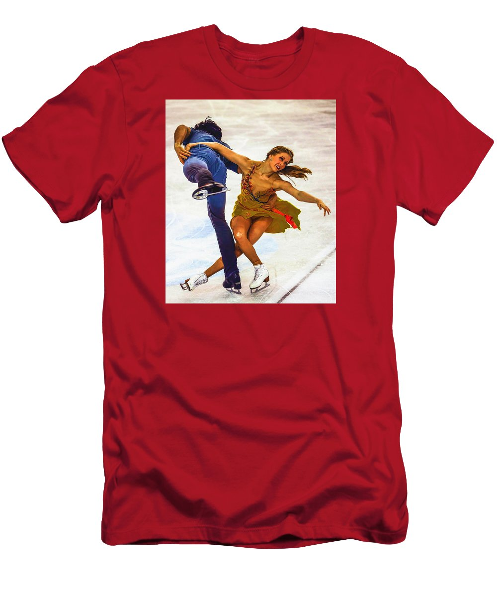 Decoration Men's T-Shirt (Athletic Fit) featuring the digital art Kaitlyn Weaver And Andrew Poje by Don Kuing