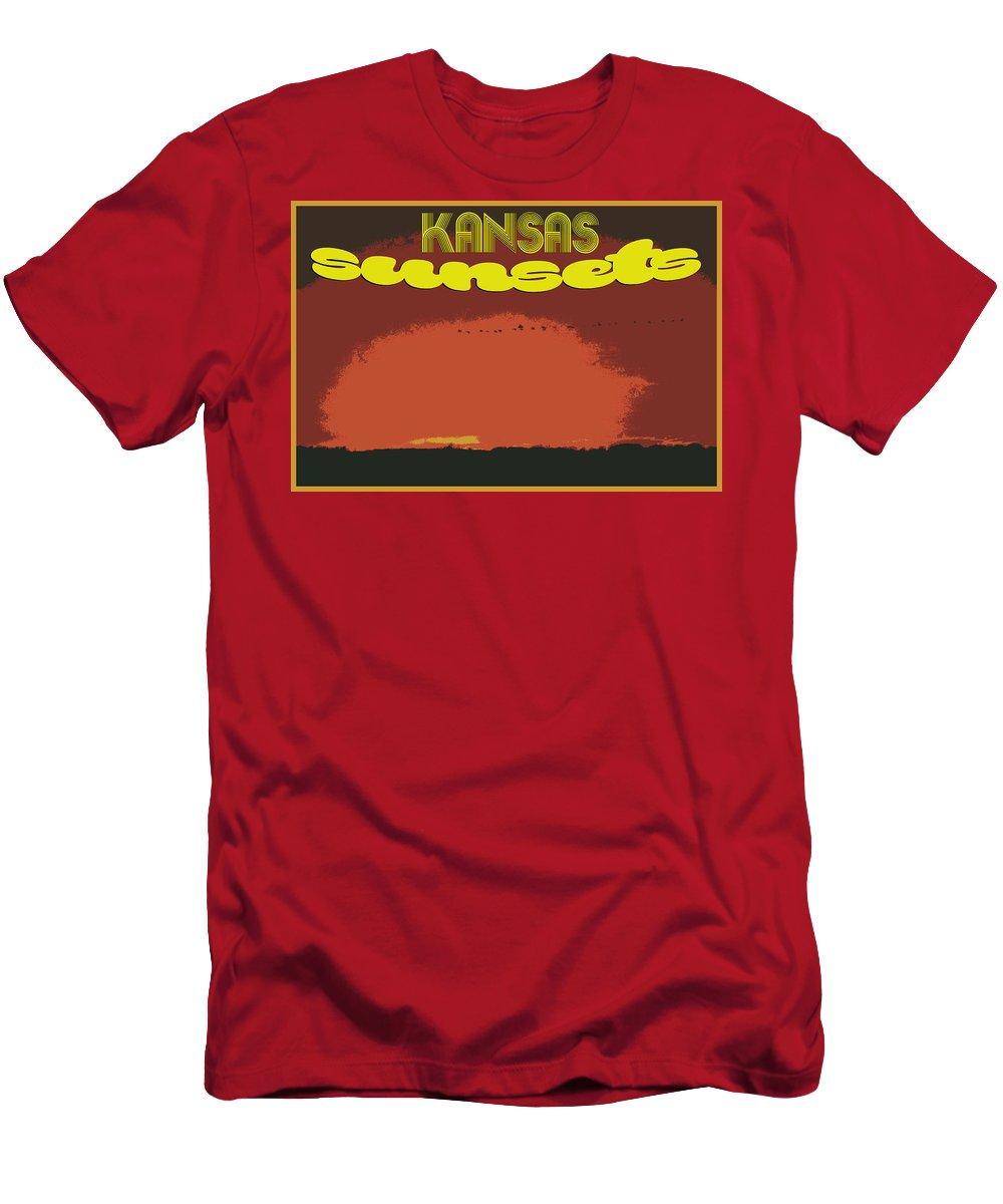 Men's T-Shirt (Athletic Fit) featuring the photograph Kansas Travel Image Nine by Tyler Ross
