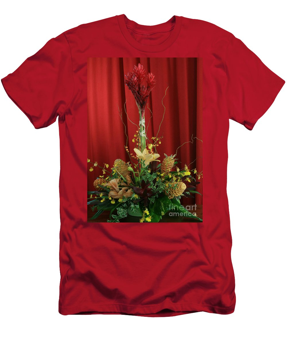 Aloha Men's T-Shirt (Athletic Fit) featuring the photograph Keawalai Still Life Tropical Flowers by Sharon Mau