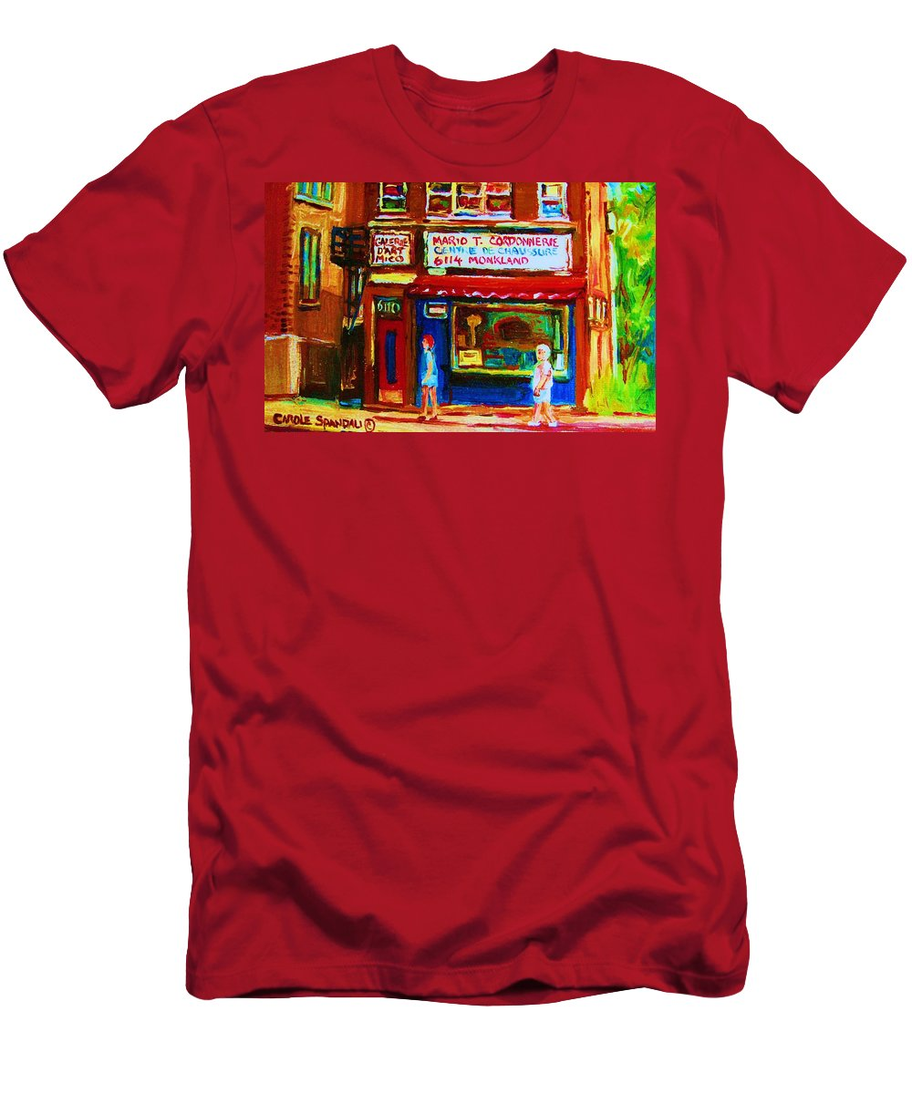 Small Cute Store Men's T-Shirt (Athletic Fit) featuring the painting Keys To The Summer by Carole Spandau