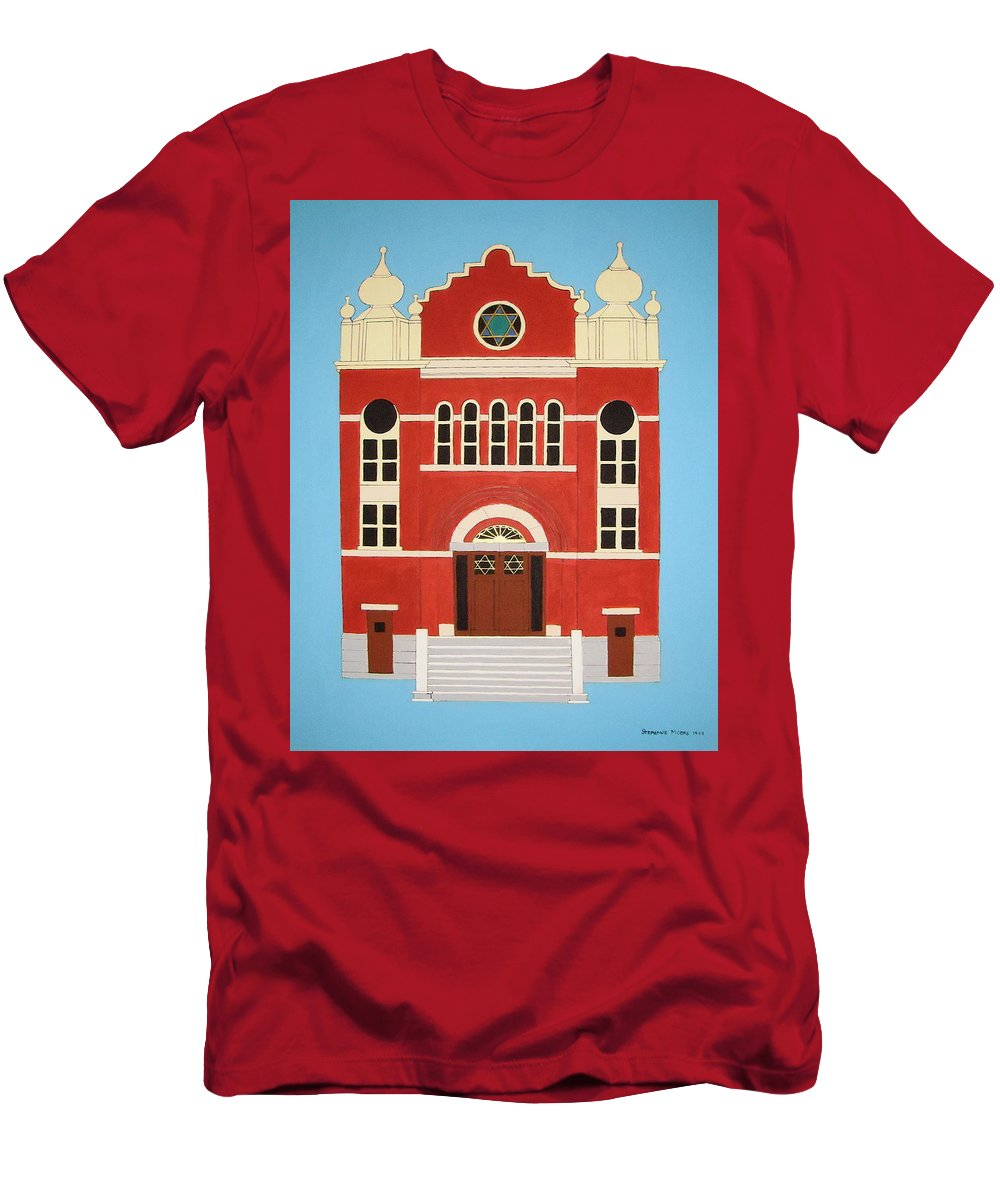 Synagogue Men's T-Shirt (Athletic Fit) featuring the painting King Edward Street Shul by Stephanie Moore