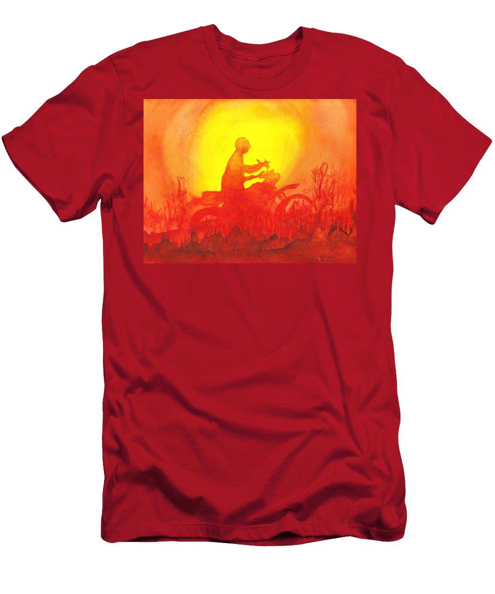 Koala Lumpur Sunset Men's T-Shirt (Athletic Fit) featuring the painting Koala Lumpur Sunset by Donna Walsh