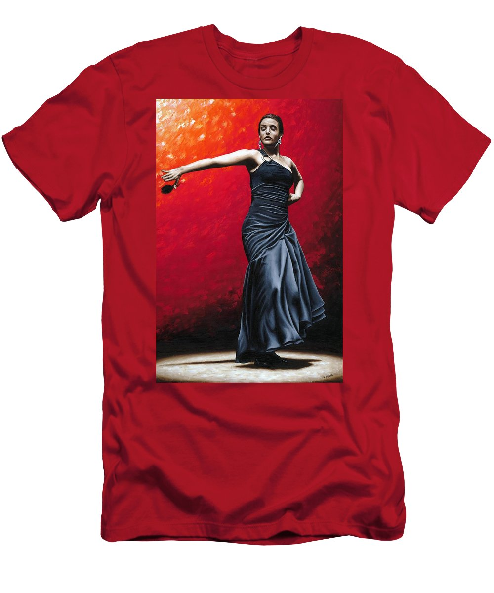Noble T-Shirt featuring the painting La Nobleza del Flamenco by Richard Young