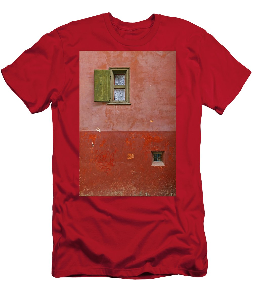 Lace Men's T-Shirt (Athletic Fit) featuring the photograph Lace Curtain by Tom Reynen