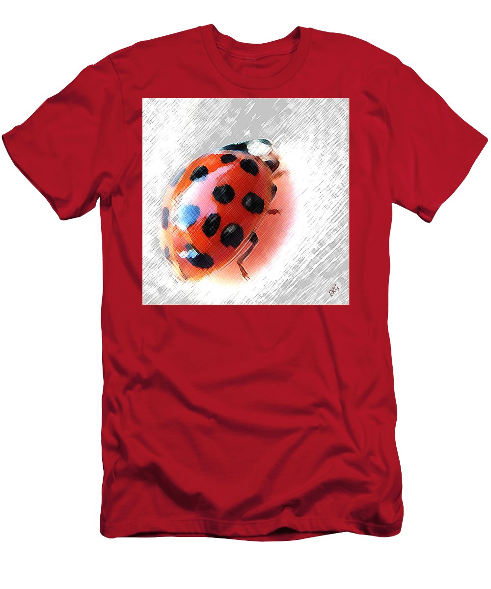 Ladybird Men's T-Shirt (Athletic Fit) featuring the photograph Ladybug Spectacular by Ben and Raisa Gertsberg
